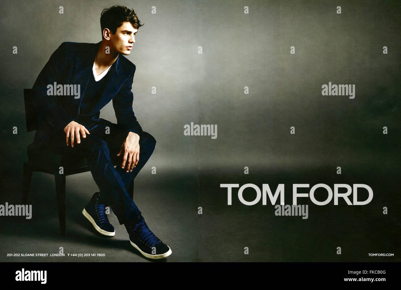 2010s UK Tom Ford Magazine Advert - Stock Image