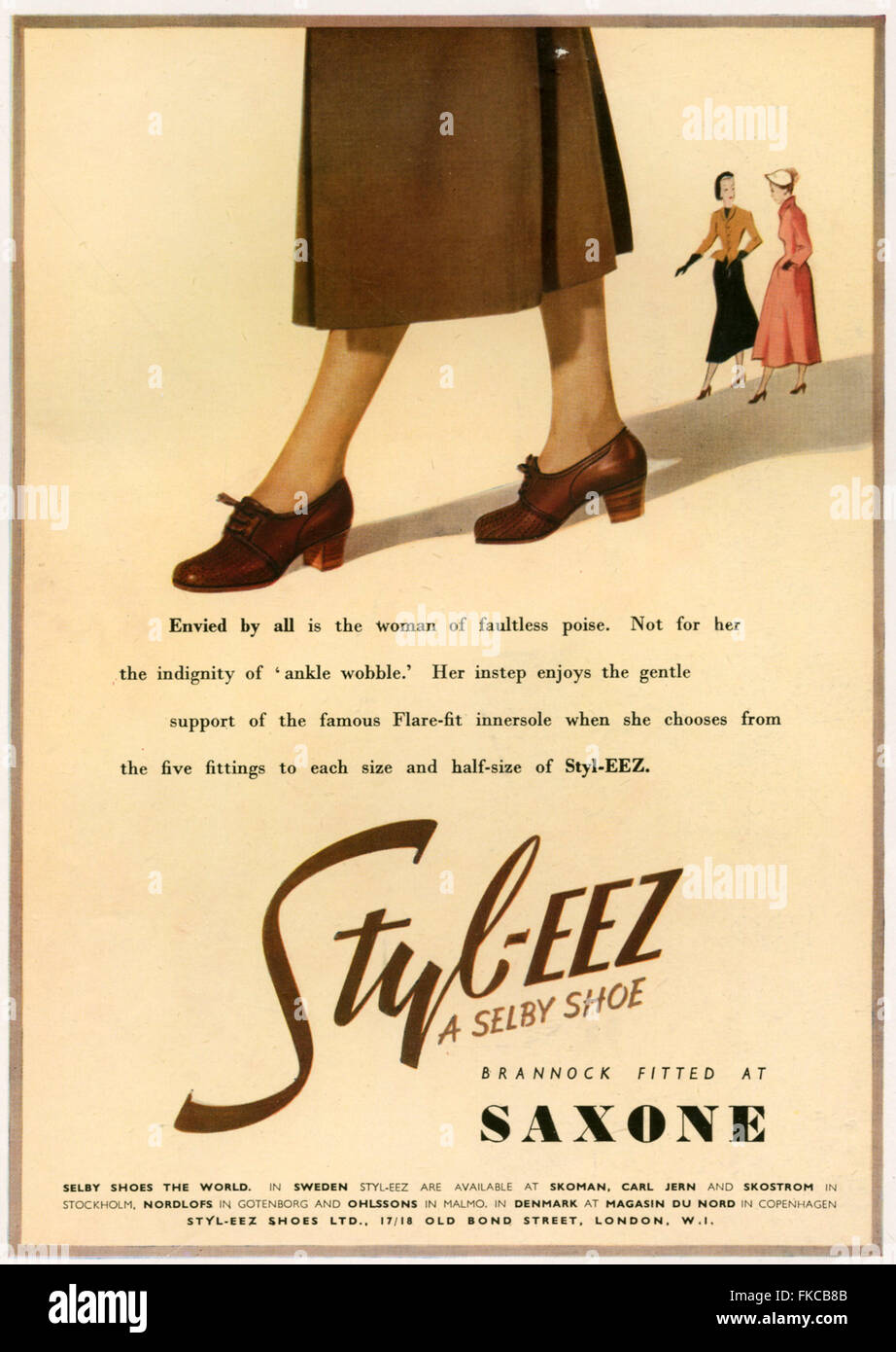 1940s UK Selby Magazine Advert - Stock Image