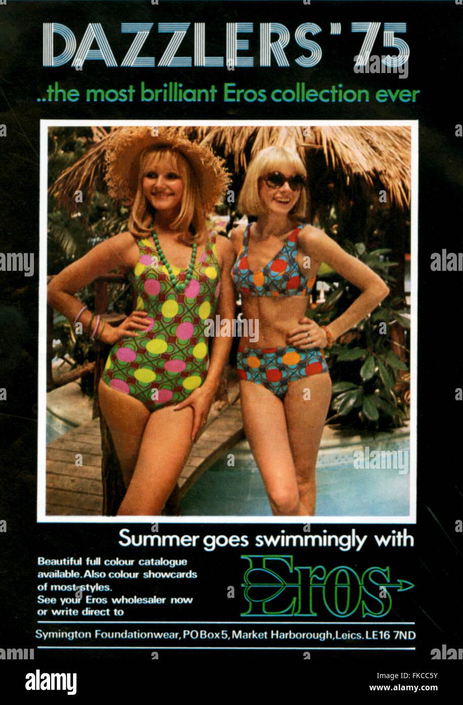 1970s UK Eros Magazine Advert - Stock Image