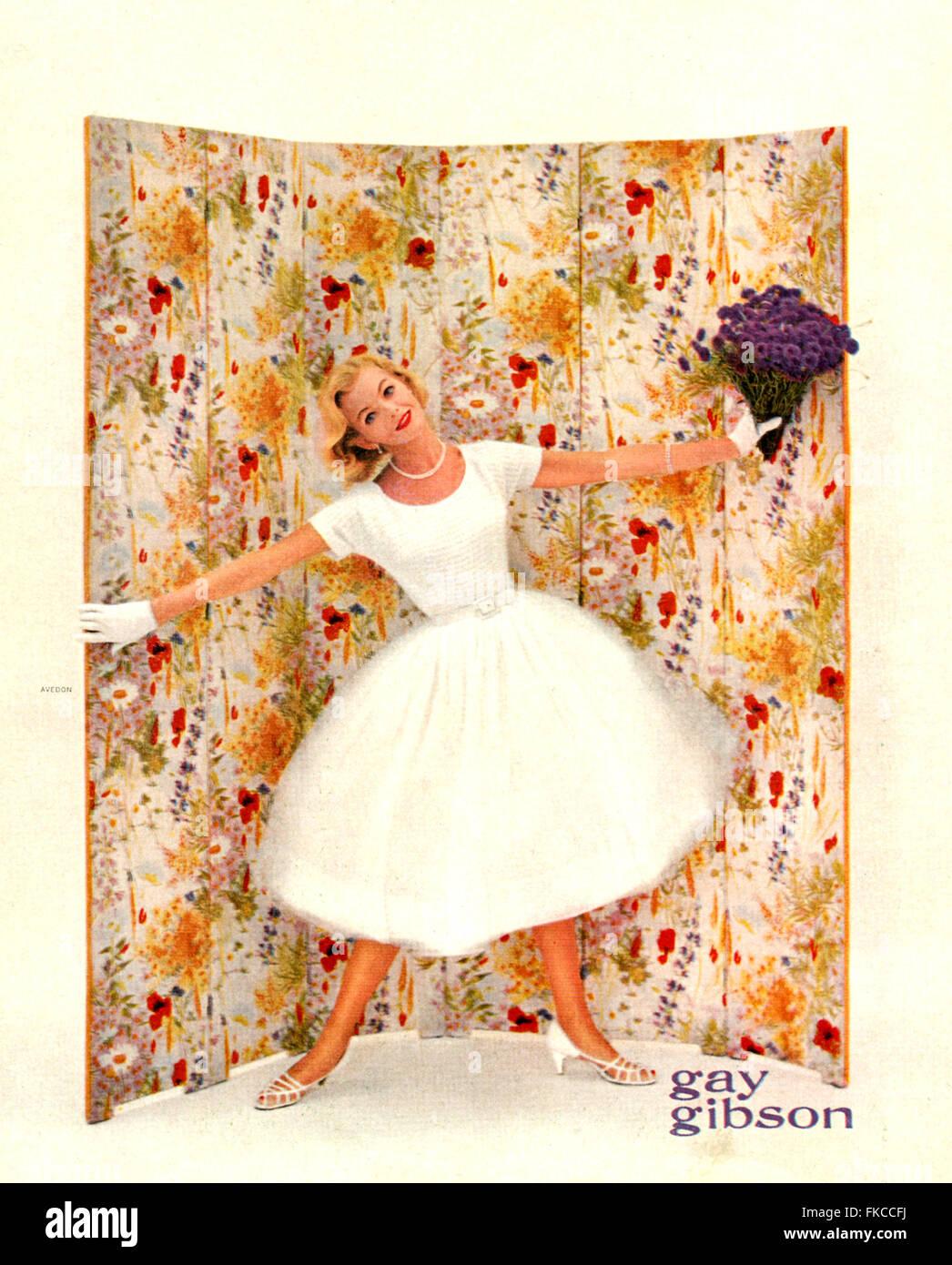 1950s USA Gay Gibson Magazine Advert - Stock Image