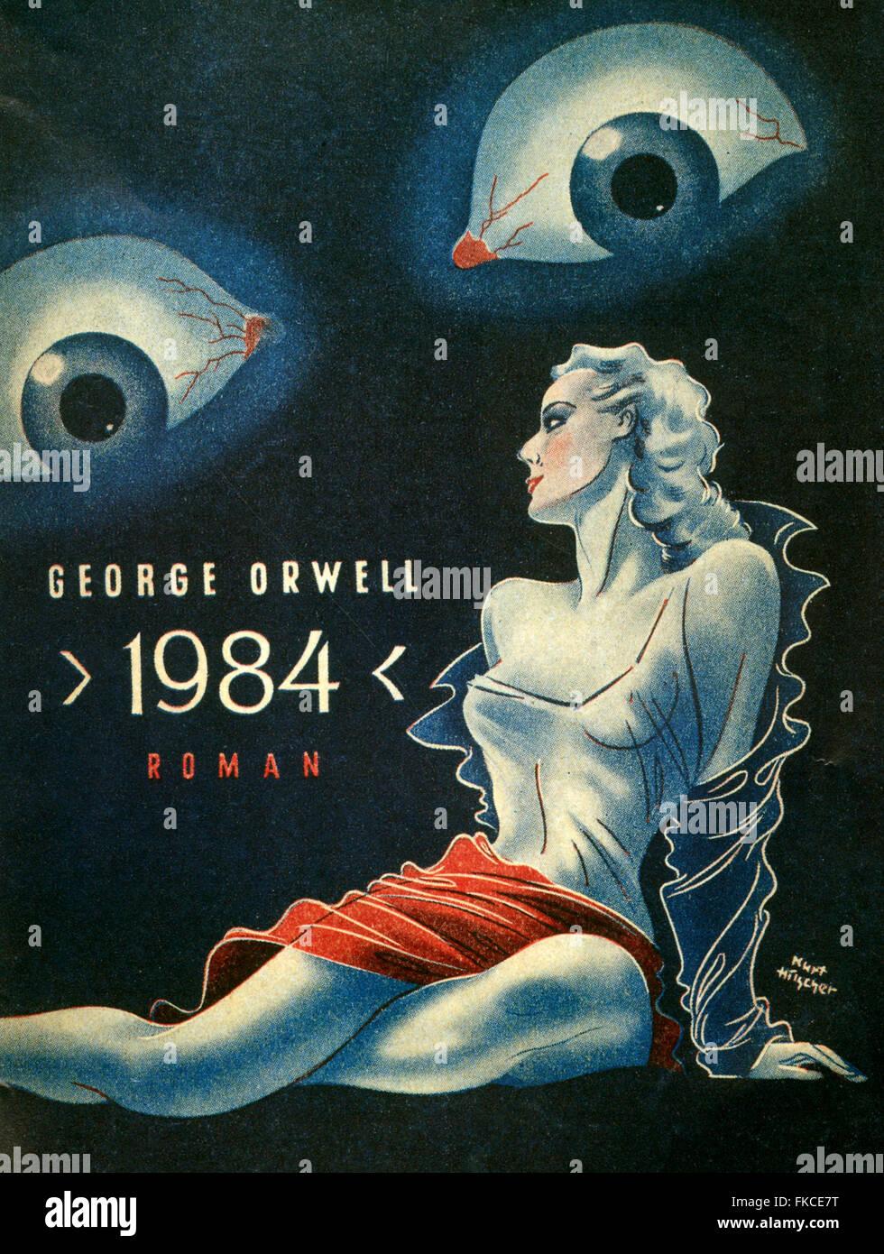 1940s Germany Nineteen Eighty-Four Book Cover - Stock Image