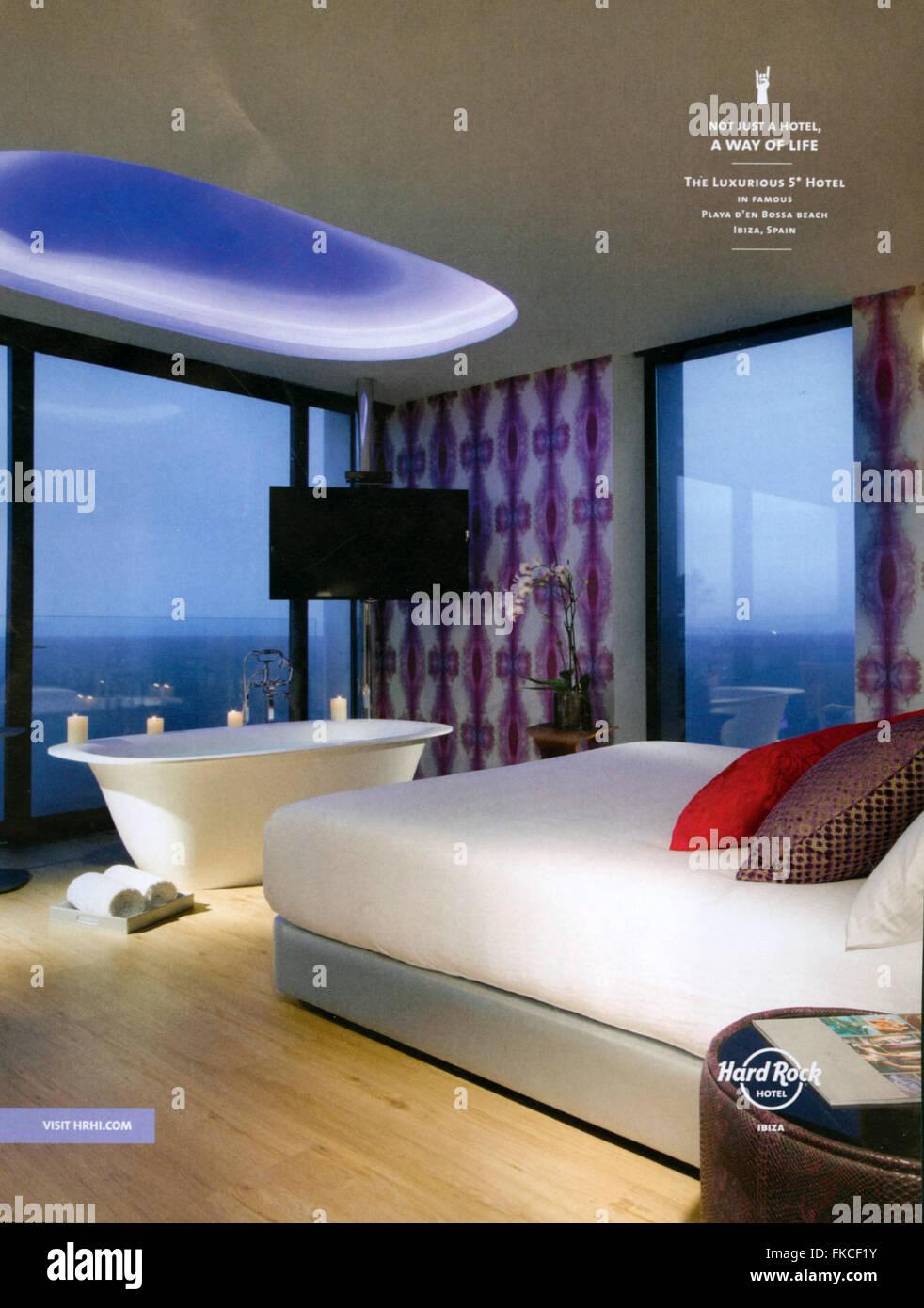 2010s UK Hard Rock Hotel Magazine Advert Stock Photo: 98005543 - Alamy