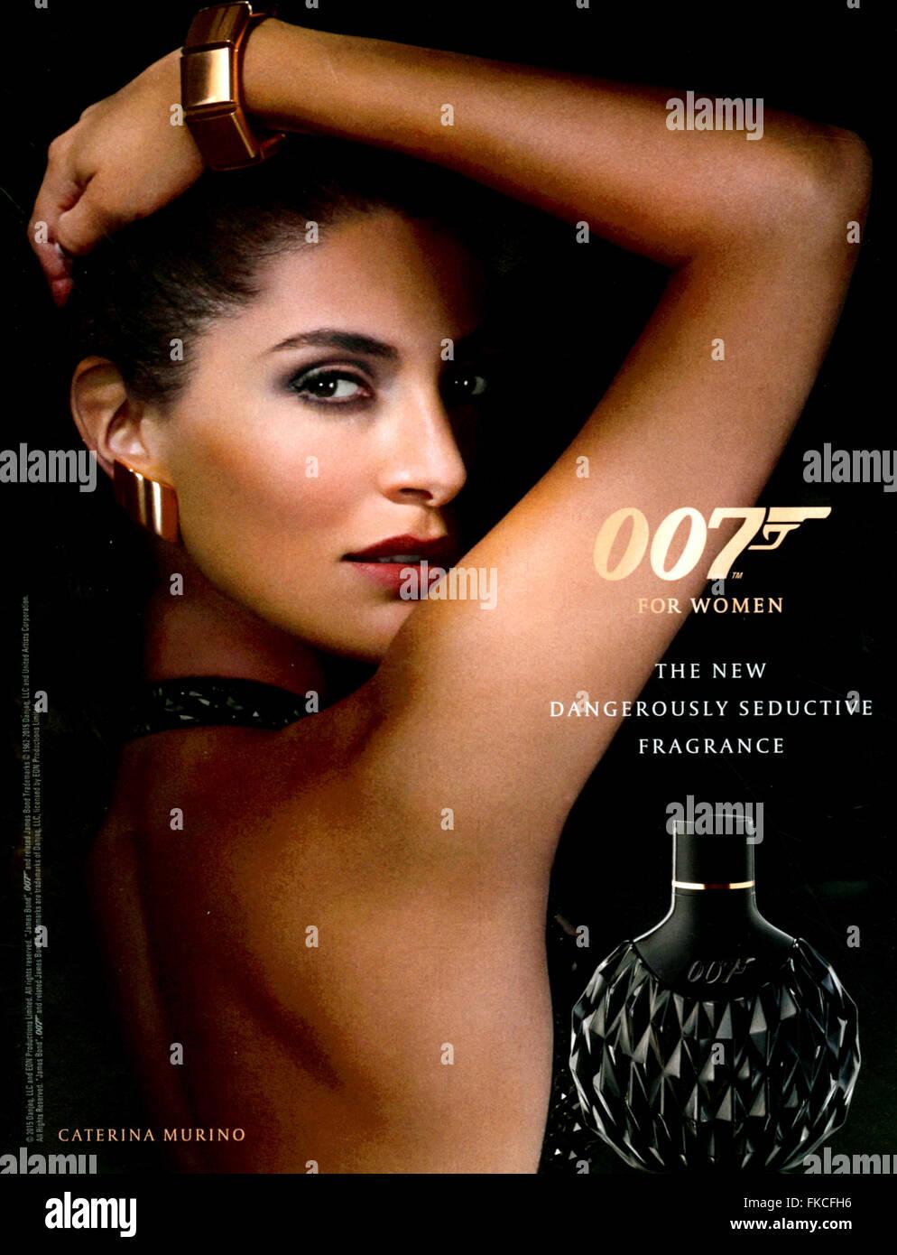 2010s UK James Bond Magazine Advert - Stock Image