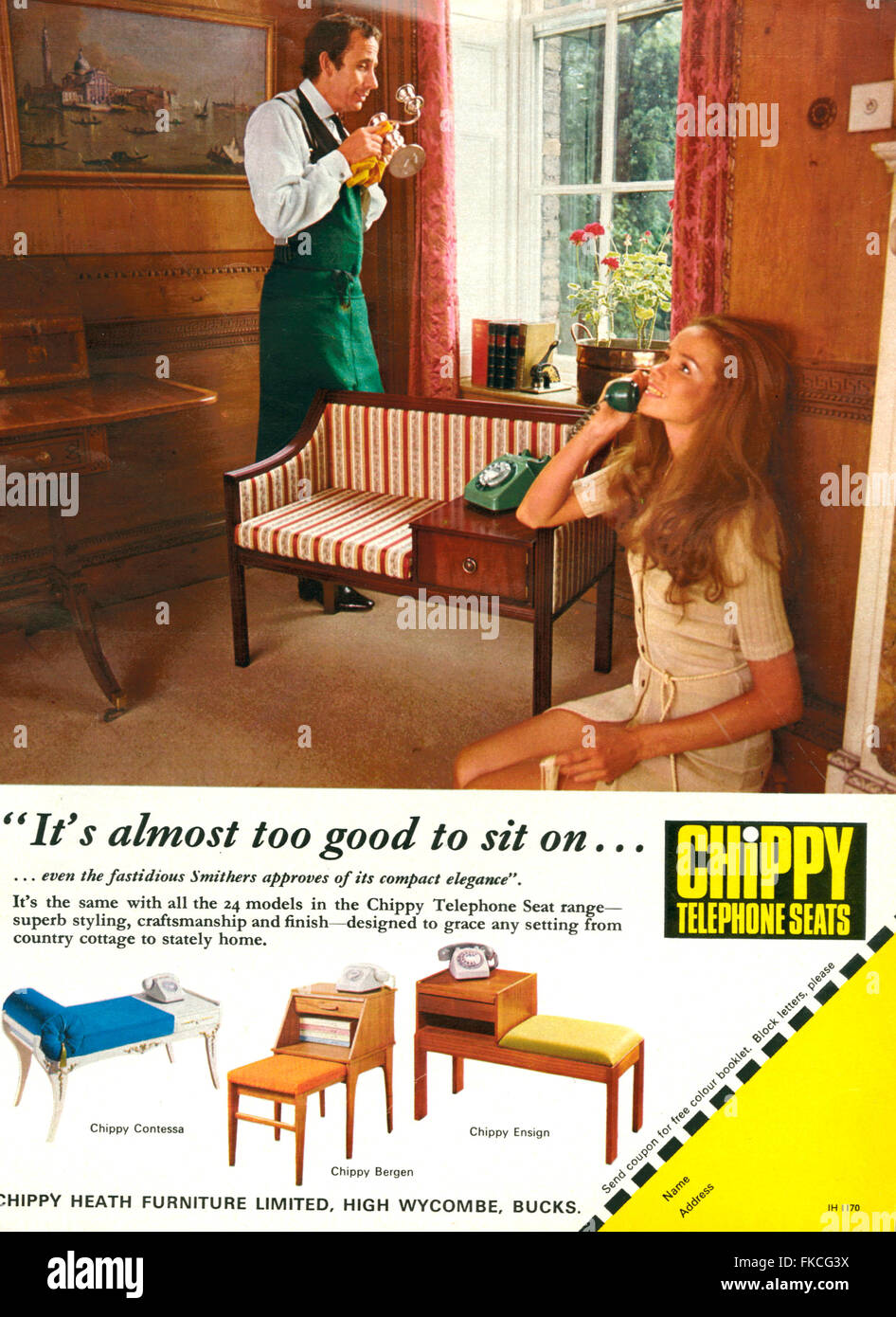 1970s UK Chippy Magazine Advert Stock Photo
