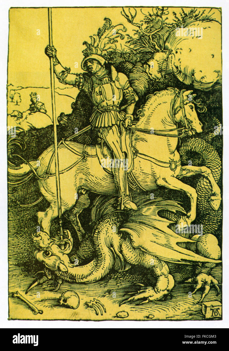 UK Knights Book Plate - Stock Image
