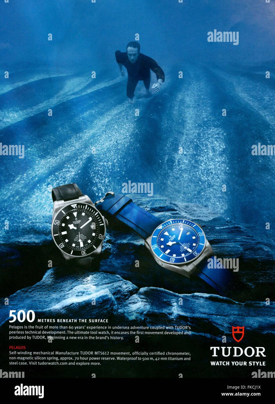 2010s UK Tudor Magazine Advert - Stock Image