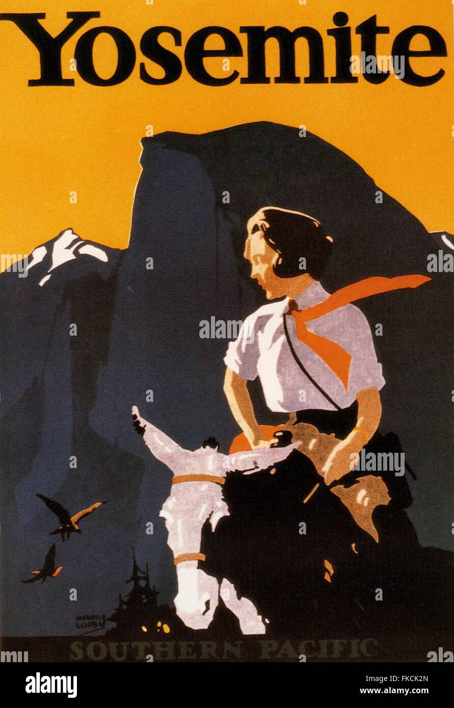 1920s USA Southern Pacific Railway Poster - Stock Image