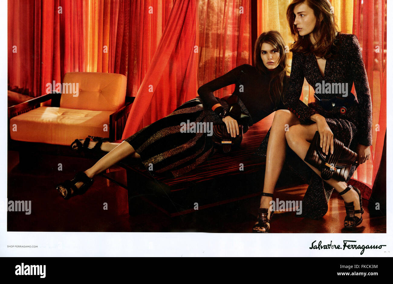 2010s UK Salvatore Ferragamo Magazine Advert - Stock Image