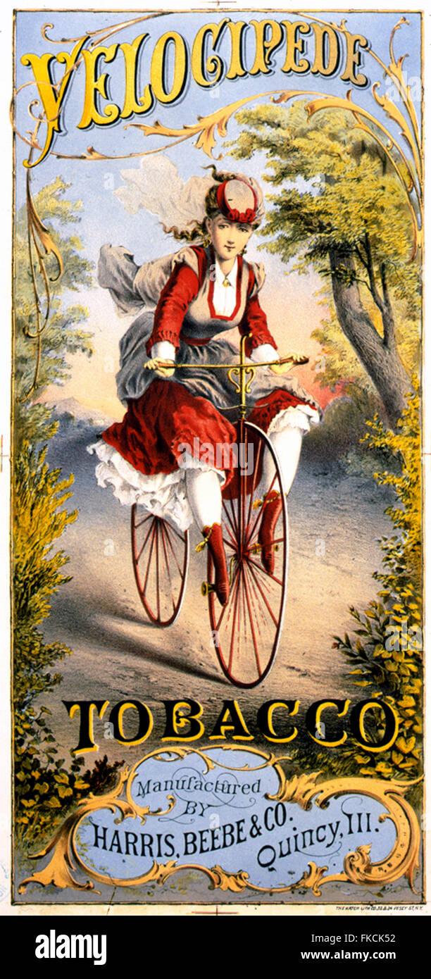 1870s  Velocipide Magazine Advert - Stock Image
