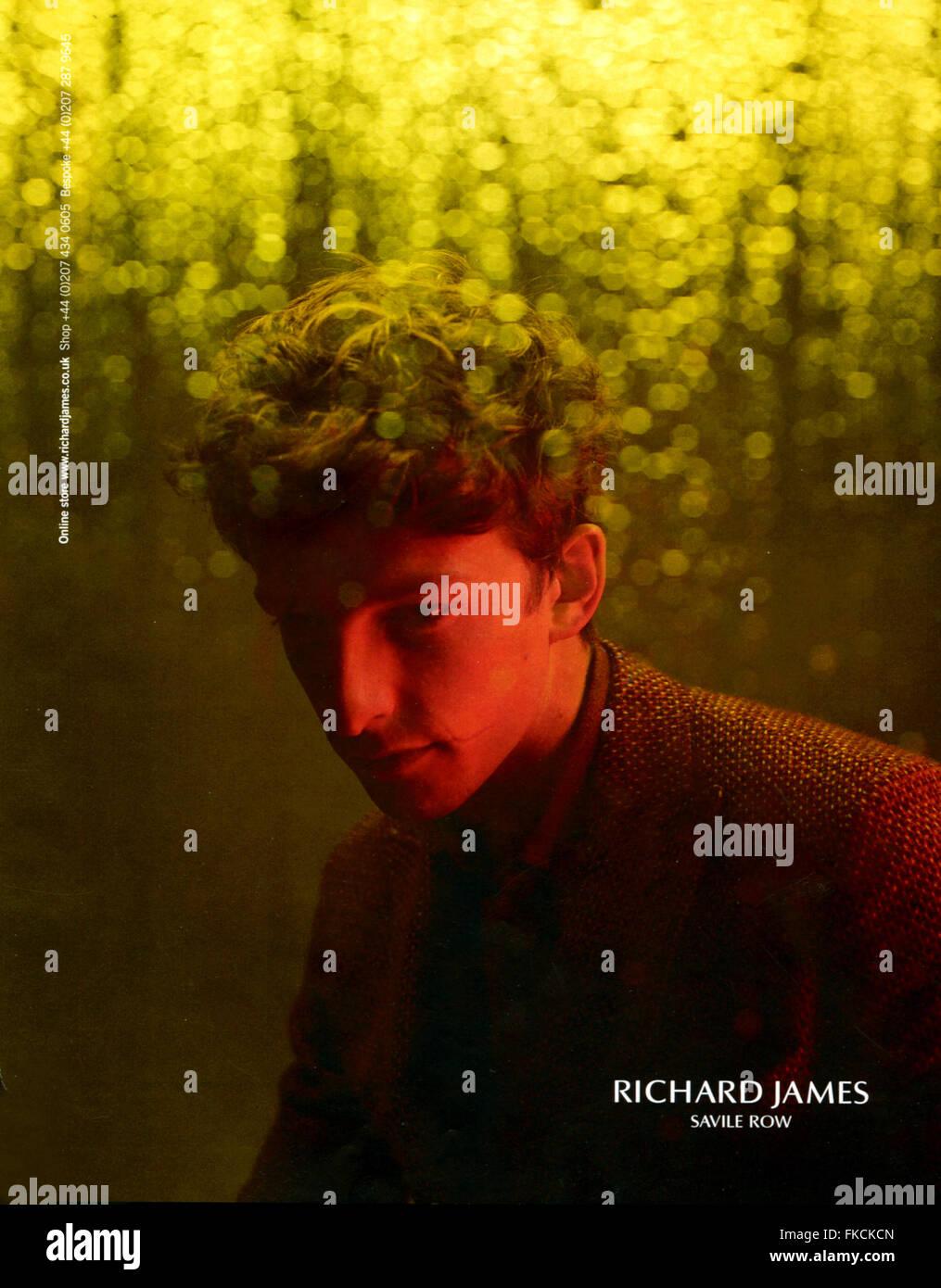 2010s UK Richard James Magazine Advert - Stock Image