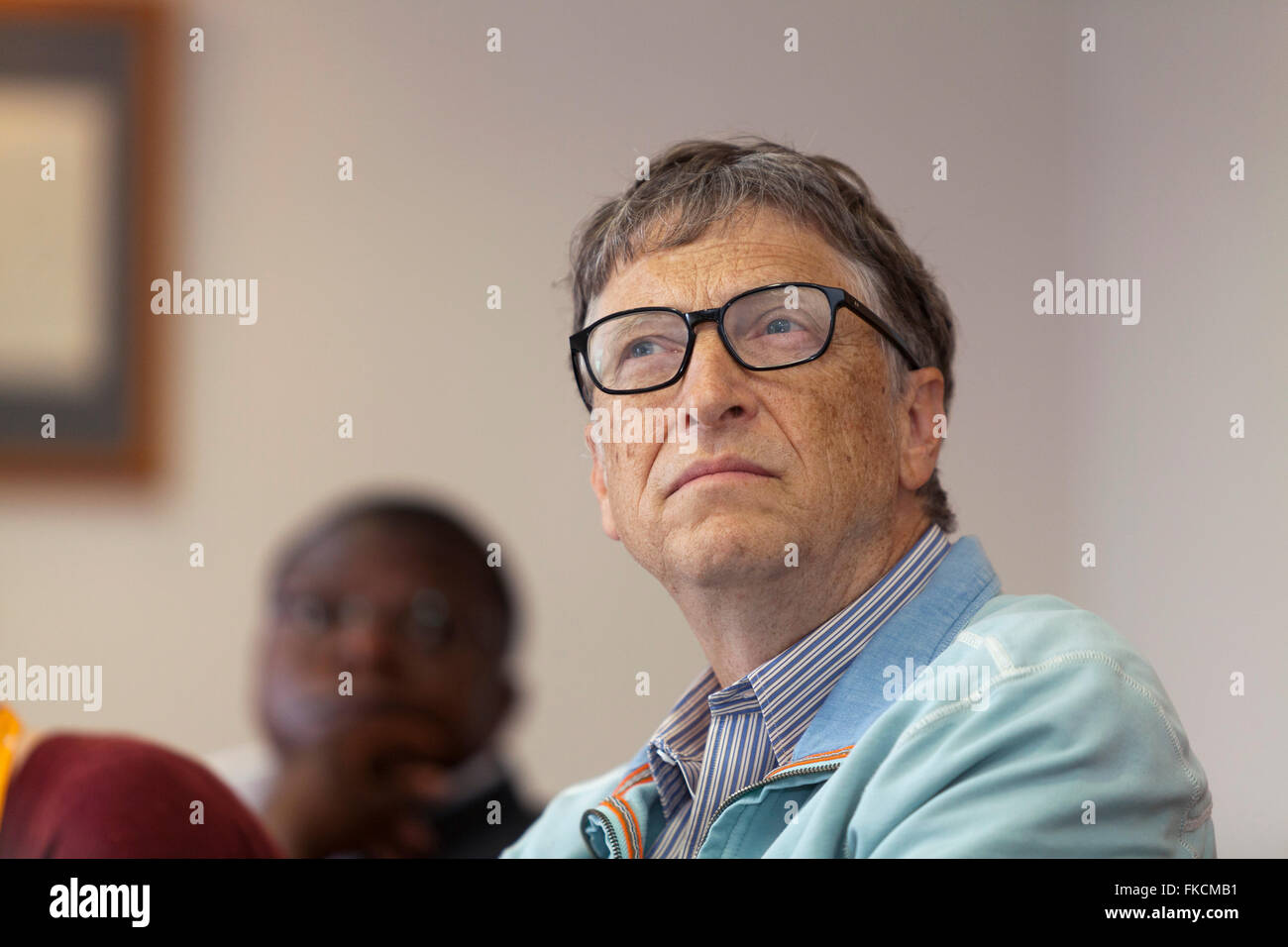 Bill Gates, founder of Microsoft and the Gates Foundation during a presentation in Edinburgh, Scotland. - Stock Image