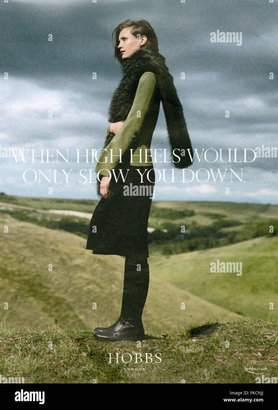 2010s UK Hobbs Magazine Advert - Stock Image