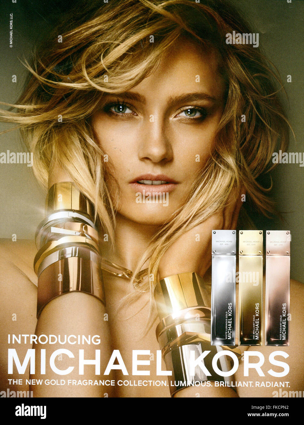 2010s UK Michael Kors Magazine Advert - Stock Image