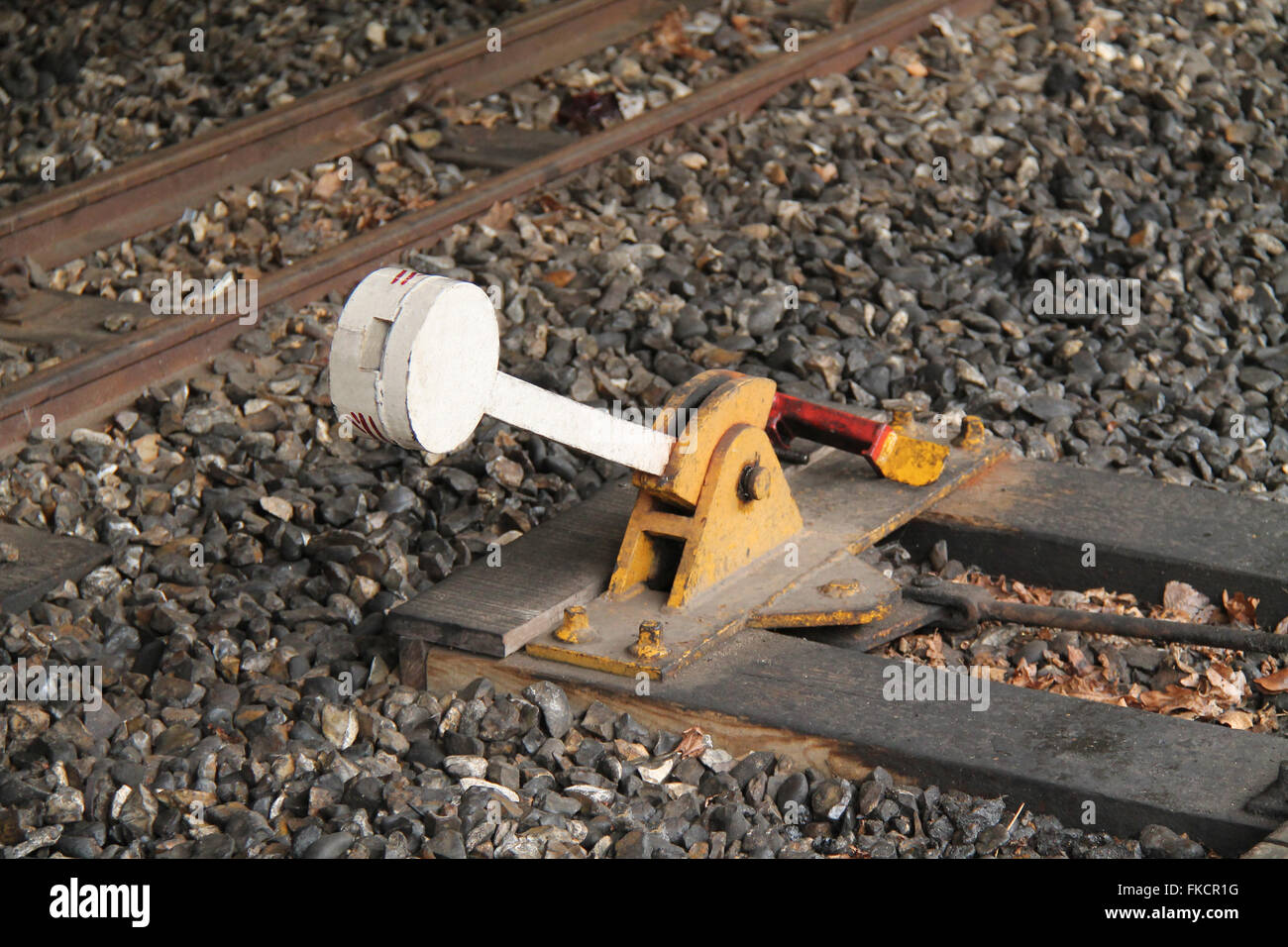 Change Lever For Trains : Railway points lever stock photos