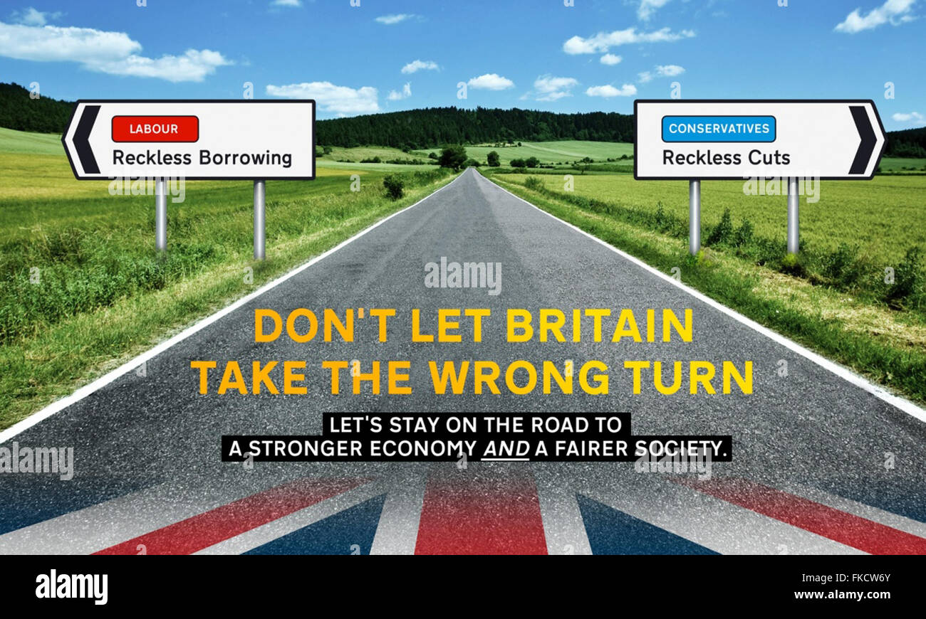2010s UK The Liberal Democrats Billboard Advert - Stock Image