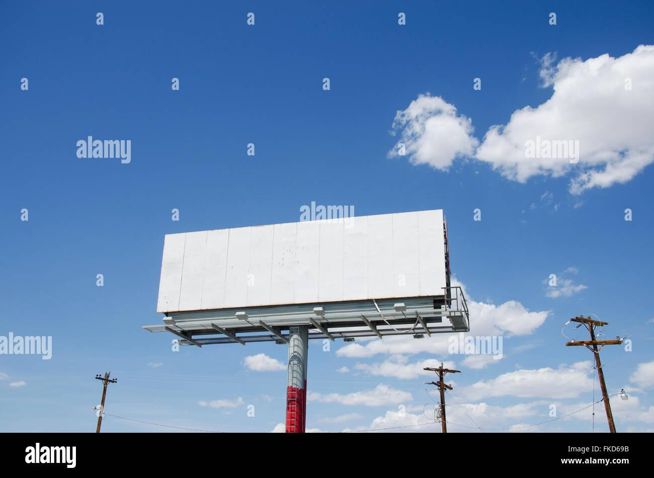 Empty billboard against sky - Stock Image