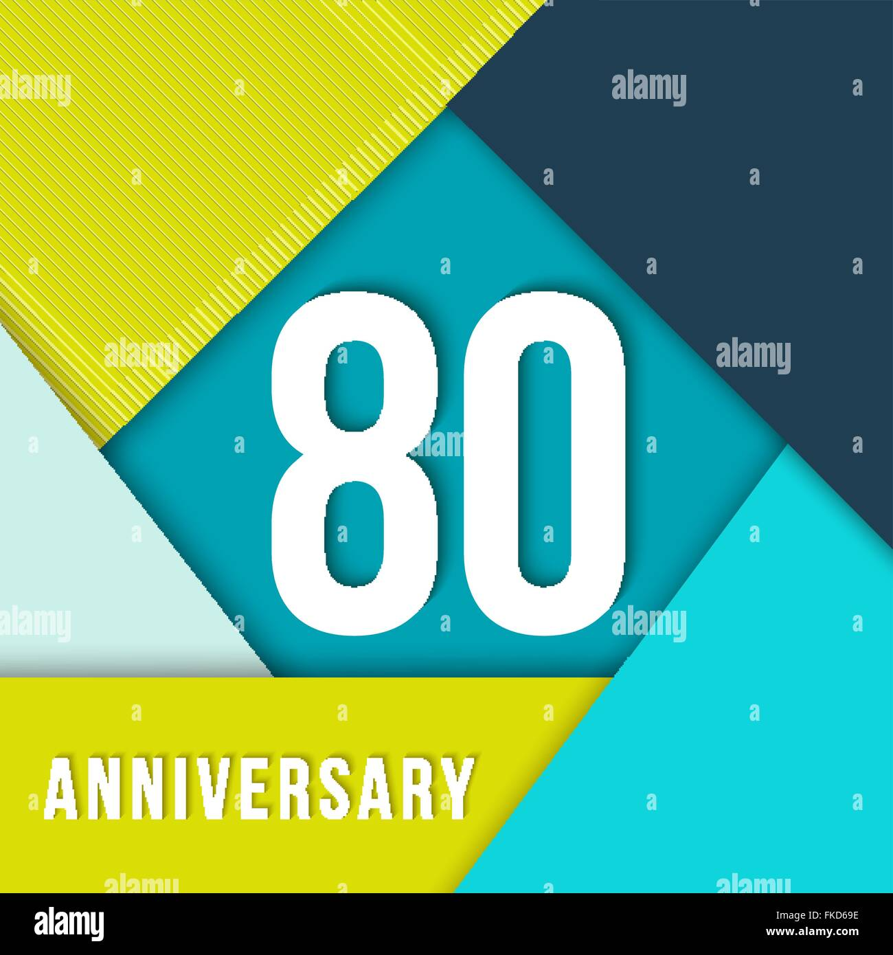 80 eighty year anniversary colorful template with number