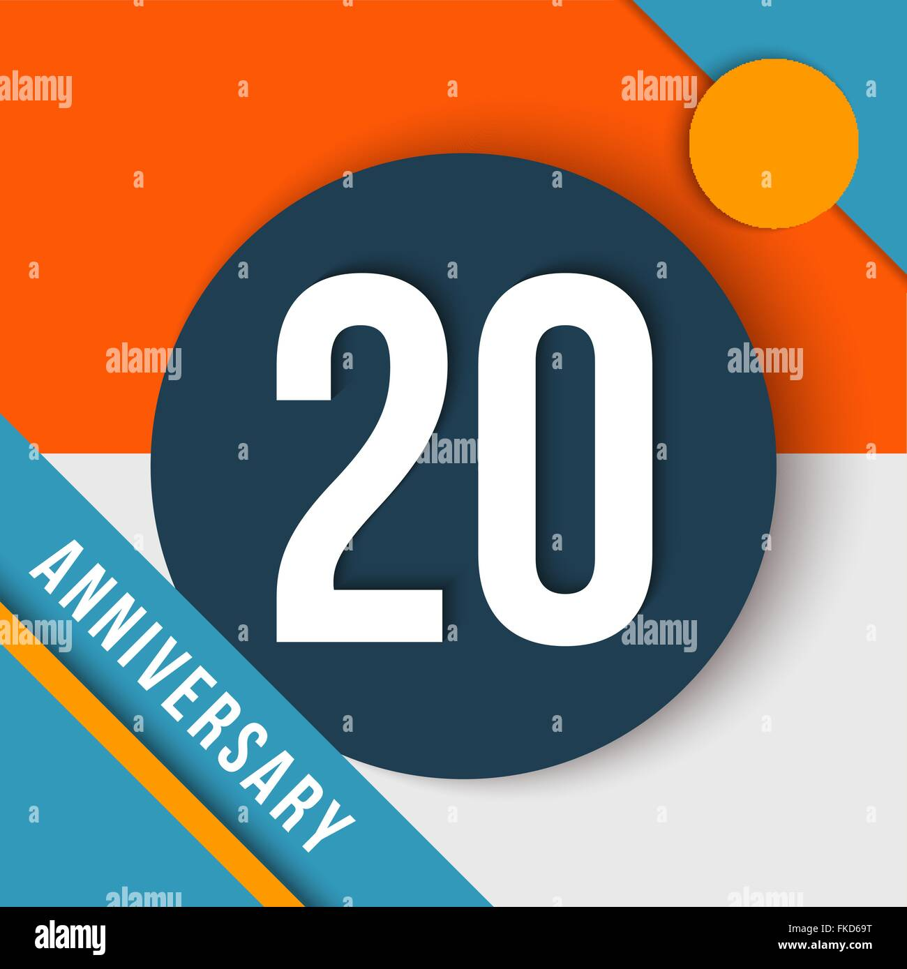 20 Twenty Year Anniversary Modern Concept With Number Text