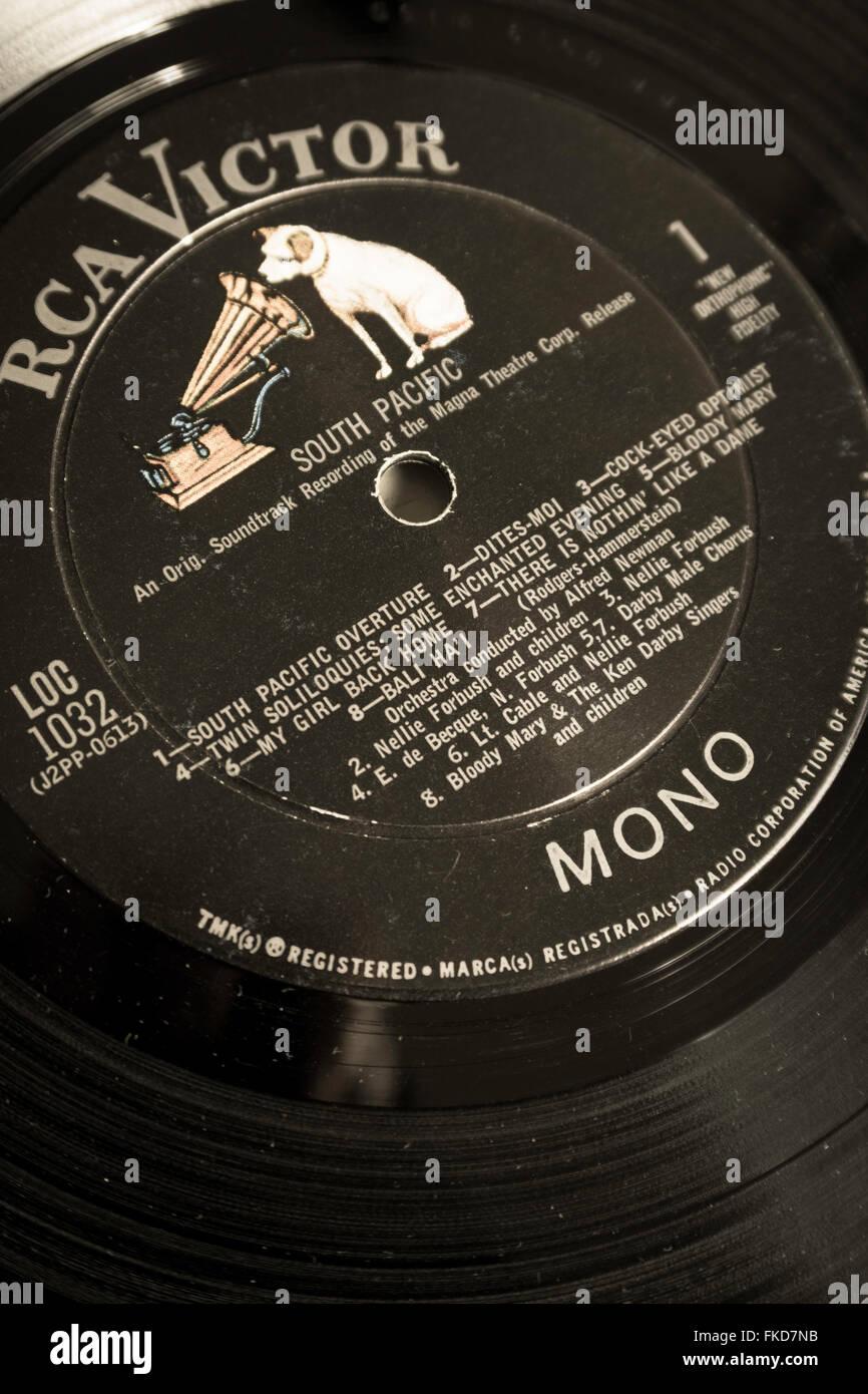 Vintage Rca Victor Vinyl Record Label Stock Photo