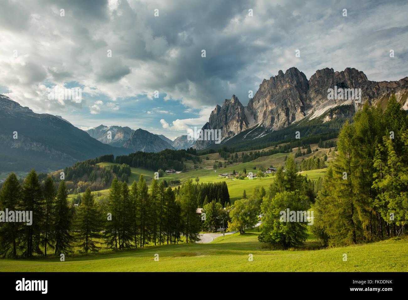 the Pomagaonon above Cortina d'Ampezzo, Dolomite Mountains,  Belluno Province, Veneto, Italy - Stock Image
