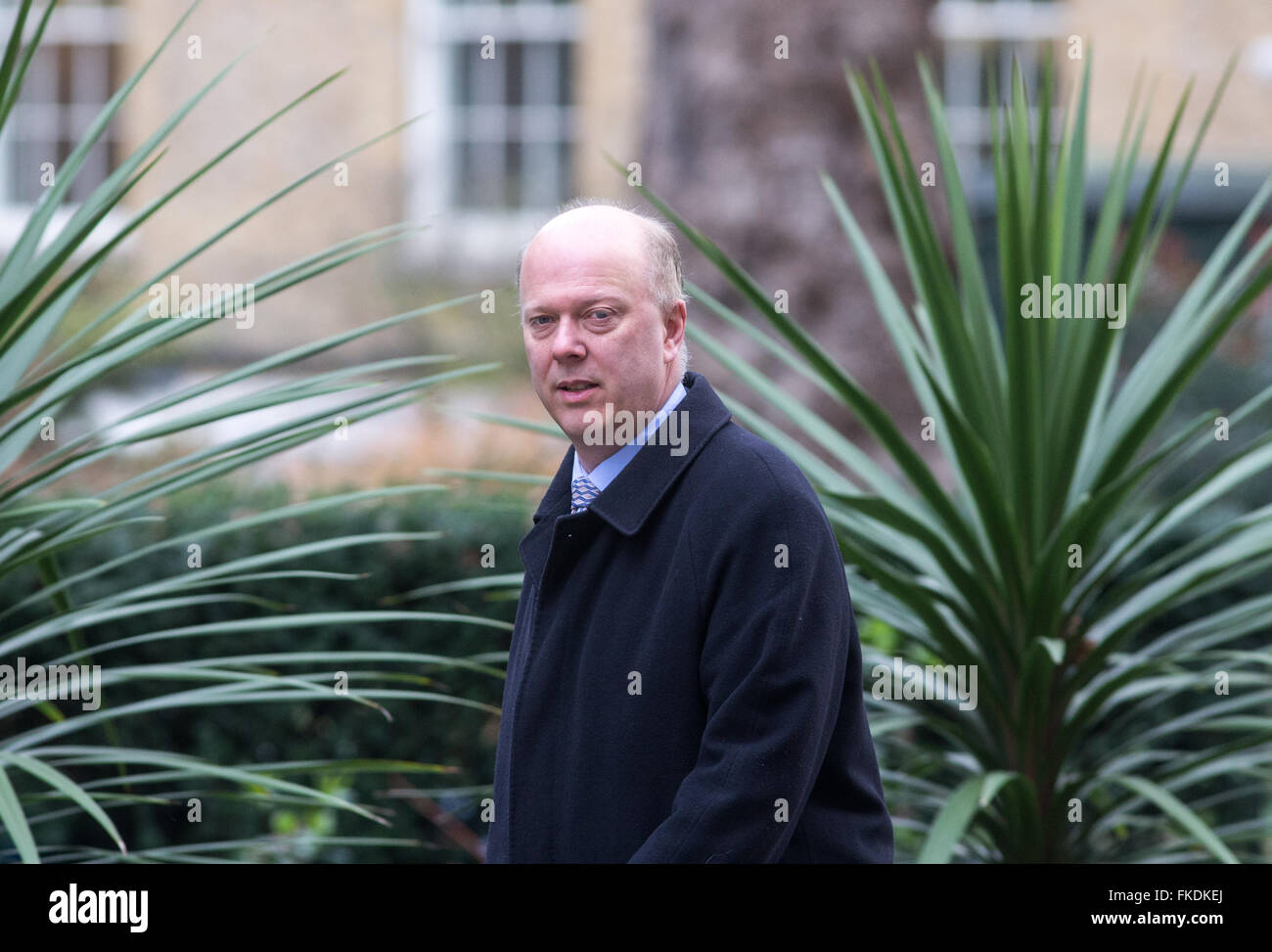 Chris Grayling,Leader of the House of Commons and the Lord President of the Council, at 10 Downing street for a - Stock Image