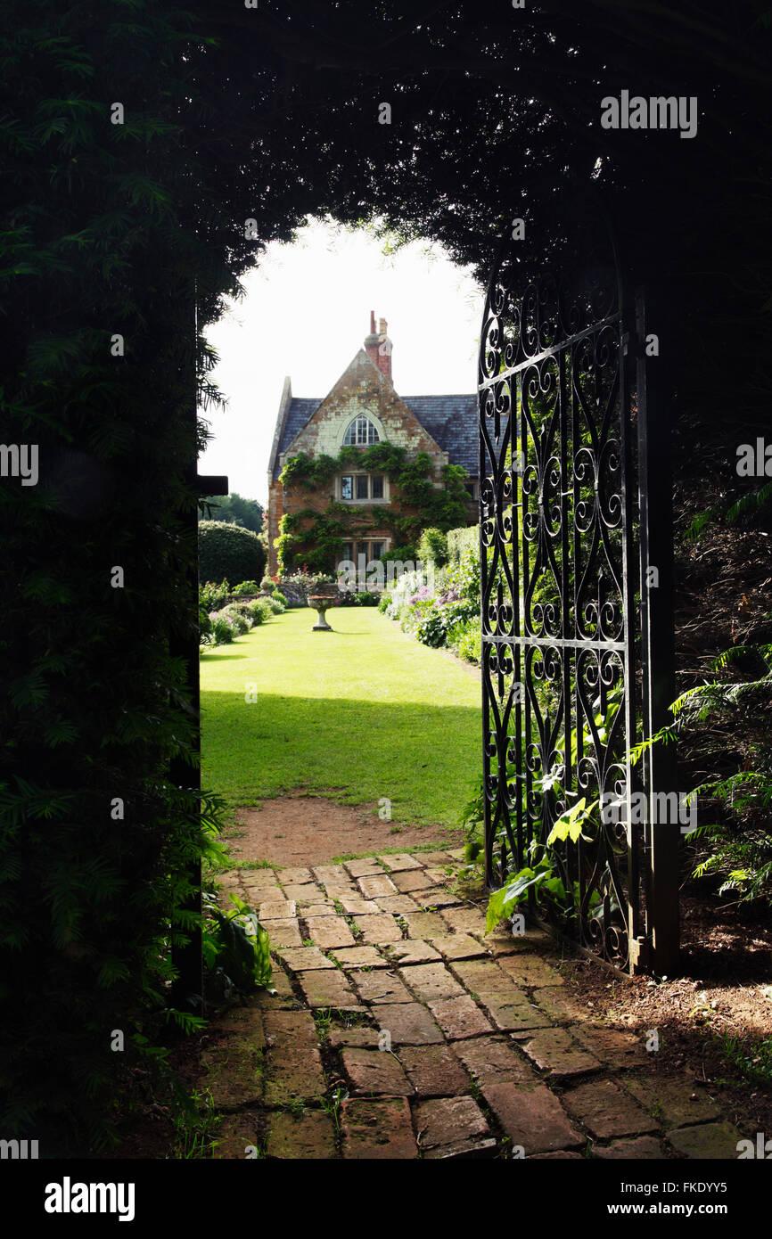 Open Garden Gate In An English Country UK