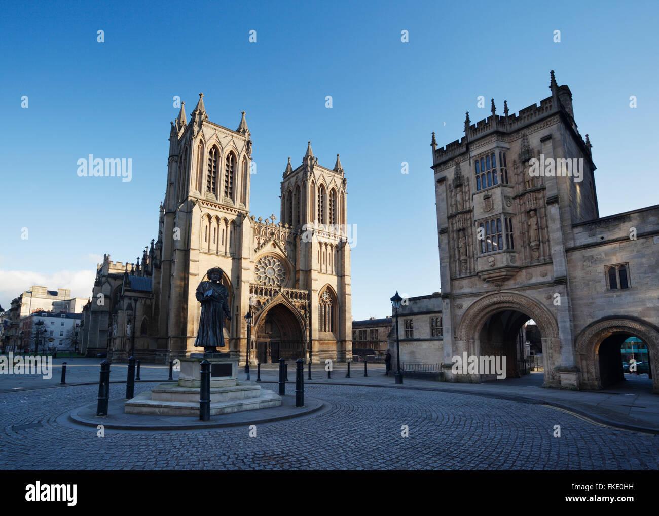 Bristol Cathedral. Bristol. UK. - Stock Image