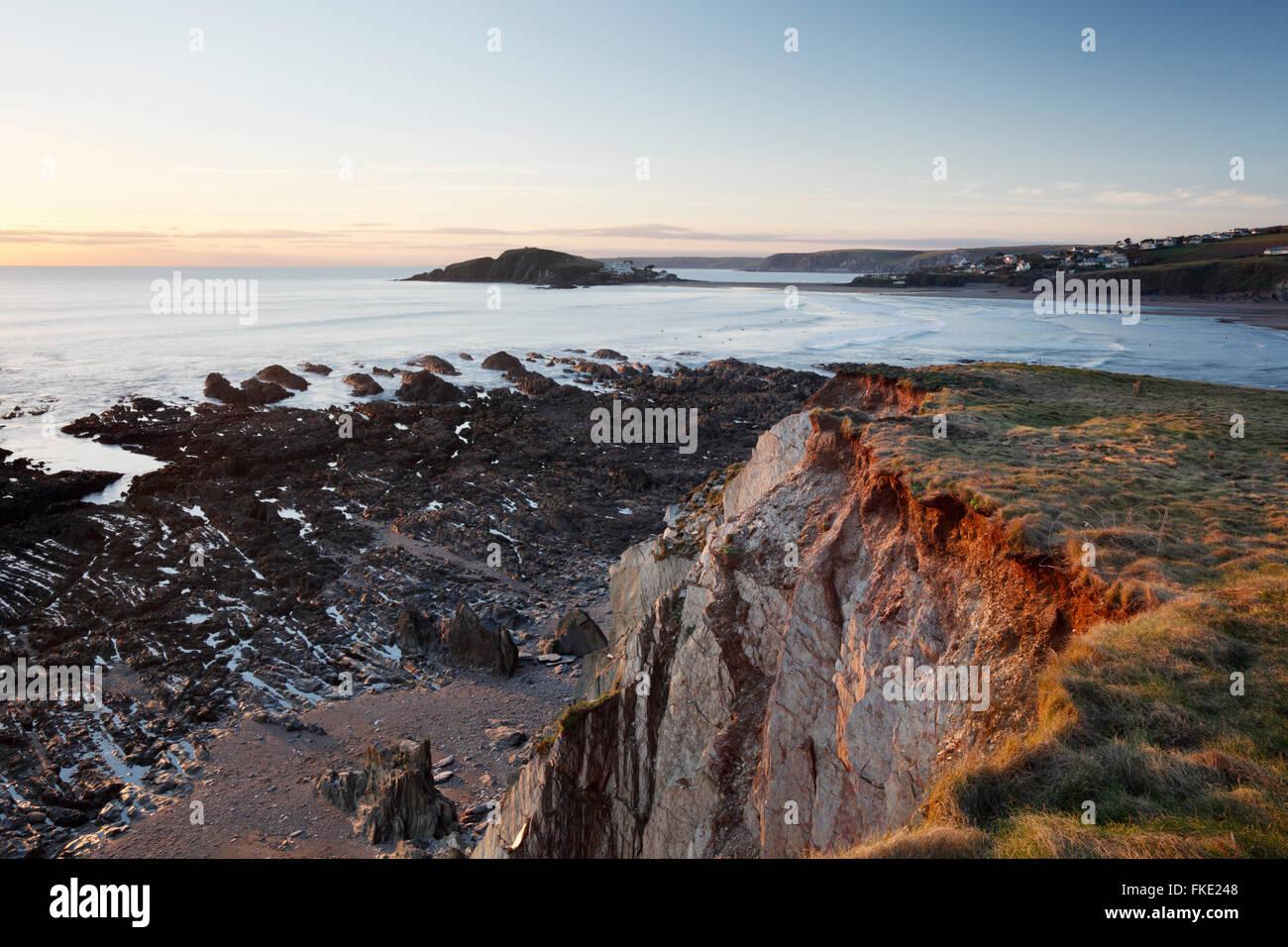 Bigbury Bay and Burgh Island. South Hams. Devon. UK. - Stock Image