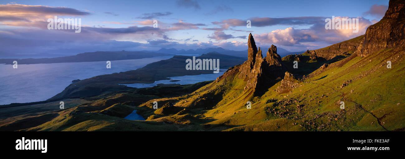the Old Man of Storr, Trotternish, Isle of Skye, Scotland, UK - Stock Image