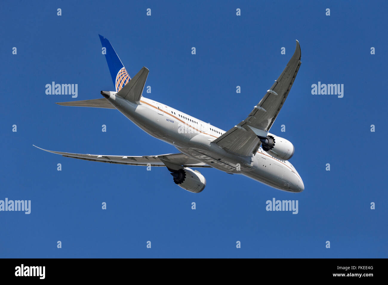 Boeing 787 Dreamliner of United Airlines - Stock Image