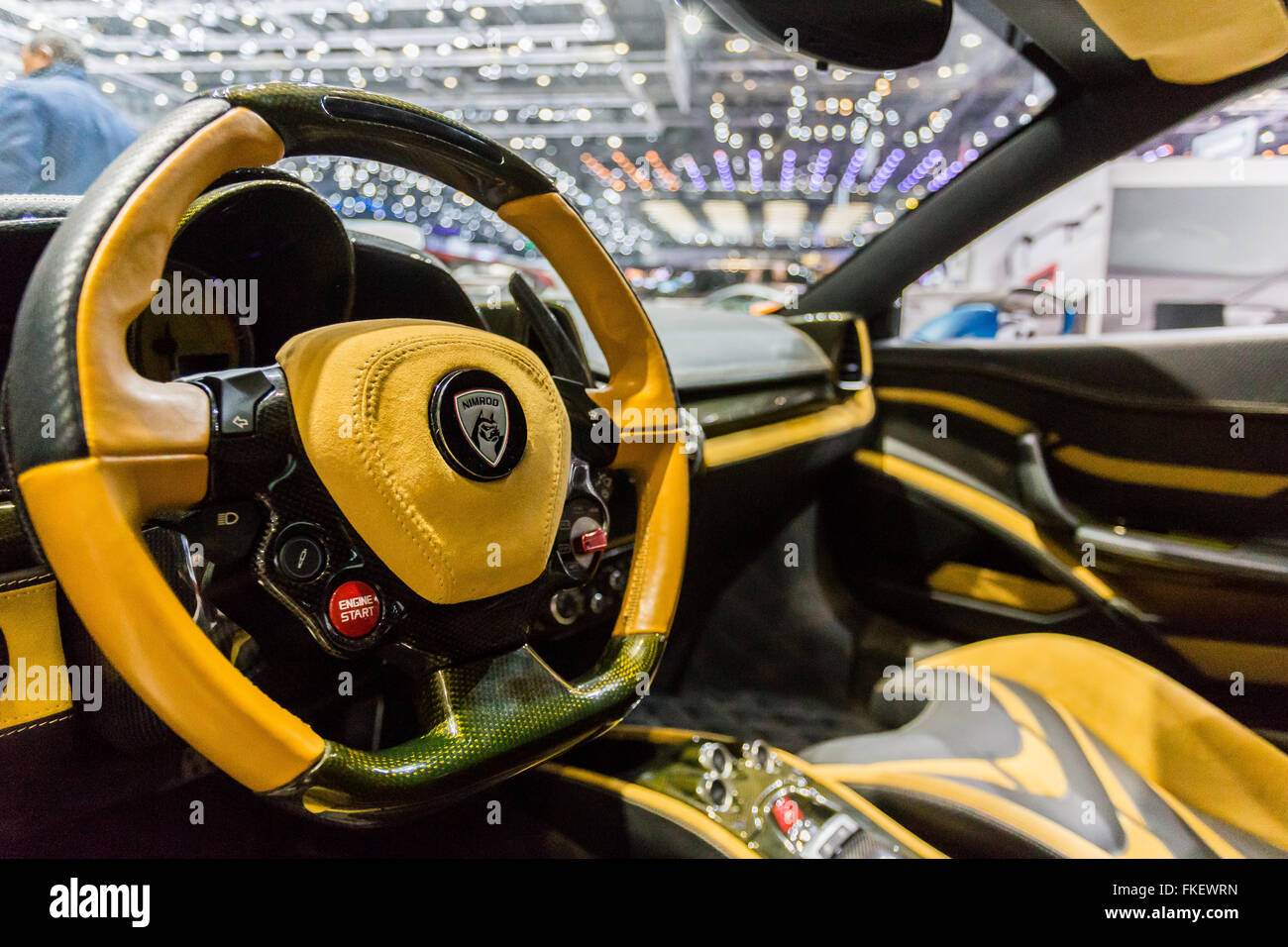 A Ferrari SP275, which is a race car presented at the Geneva Motor Show in 2016. - Stock Image
