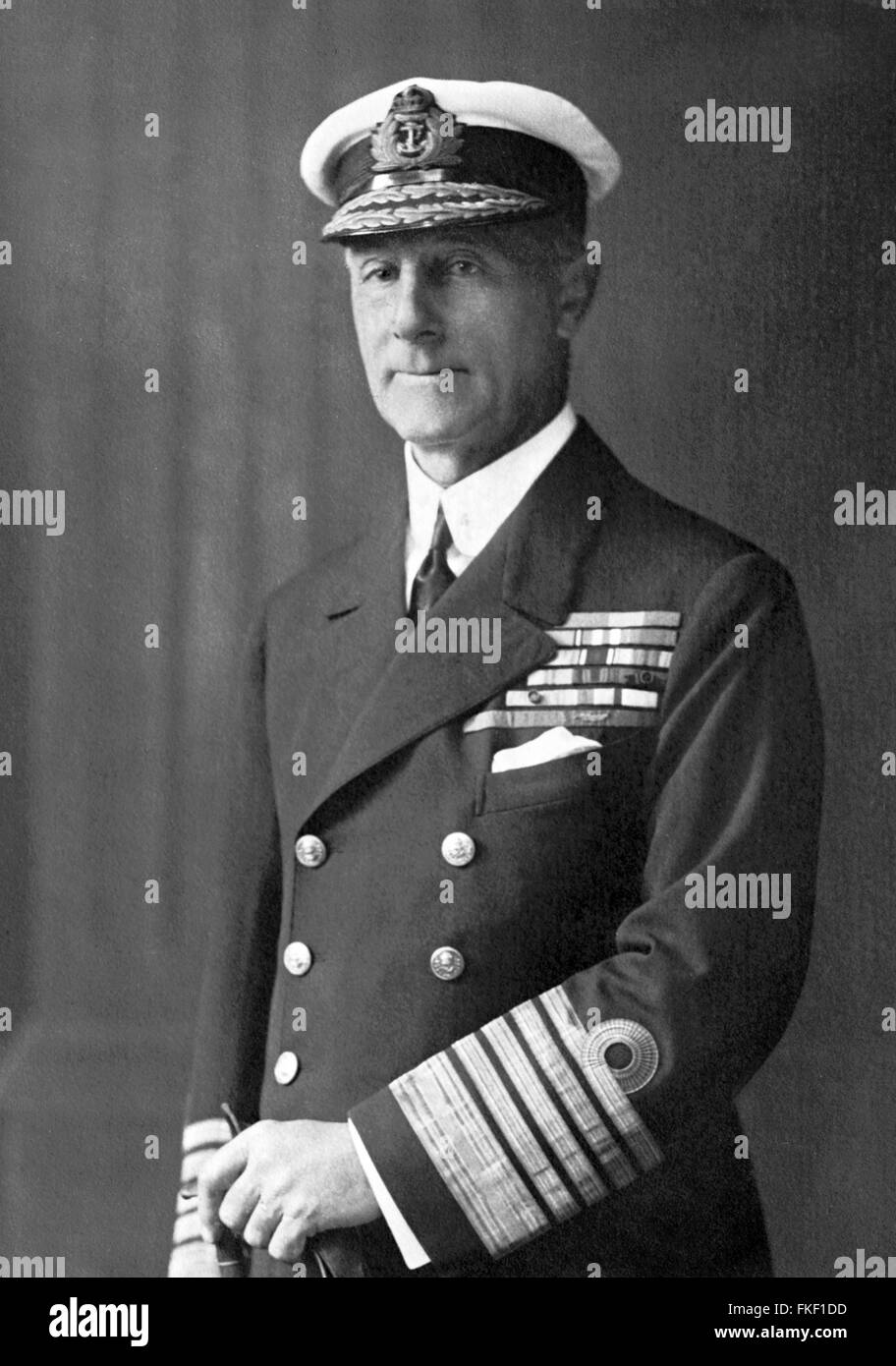 Admiral Sir John Jellicoe (1st Earl Jellicoe), commander of the British Grand Fleet at the World War I Battle of - Stock Image