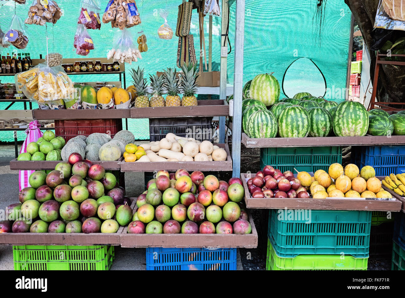 Fruit stand in Costa Rica - Stock Image