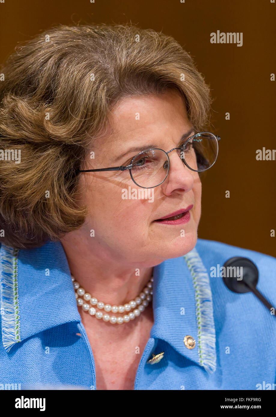 WASHINGTON, DC, USA - U. S. Senator Dianne Feinstein (D-CA) - Stock Image