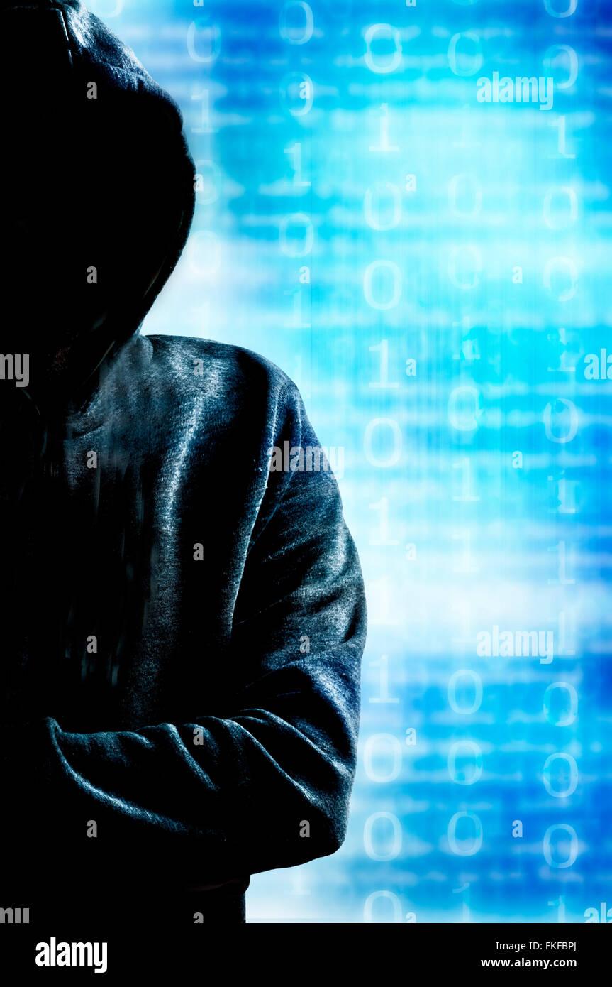 hacker - Stock Image