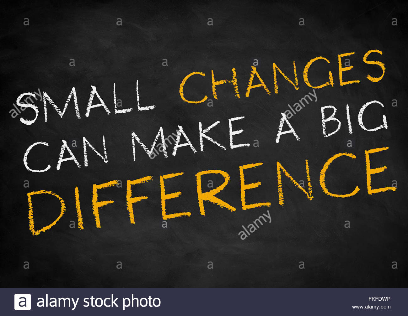 Small changes can make a big difference - Stock Image