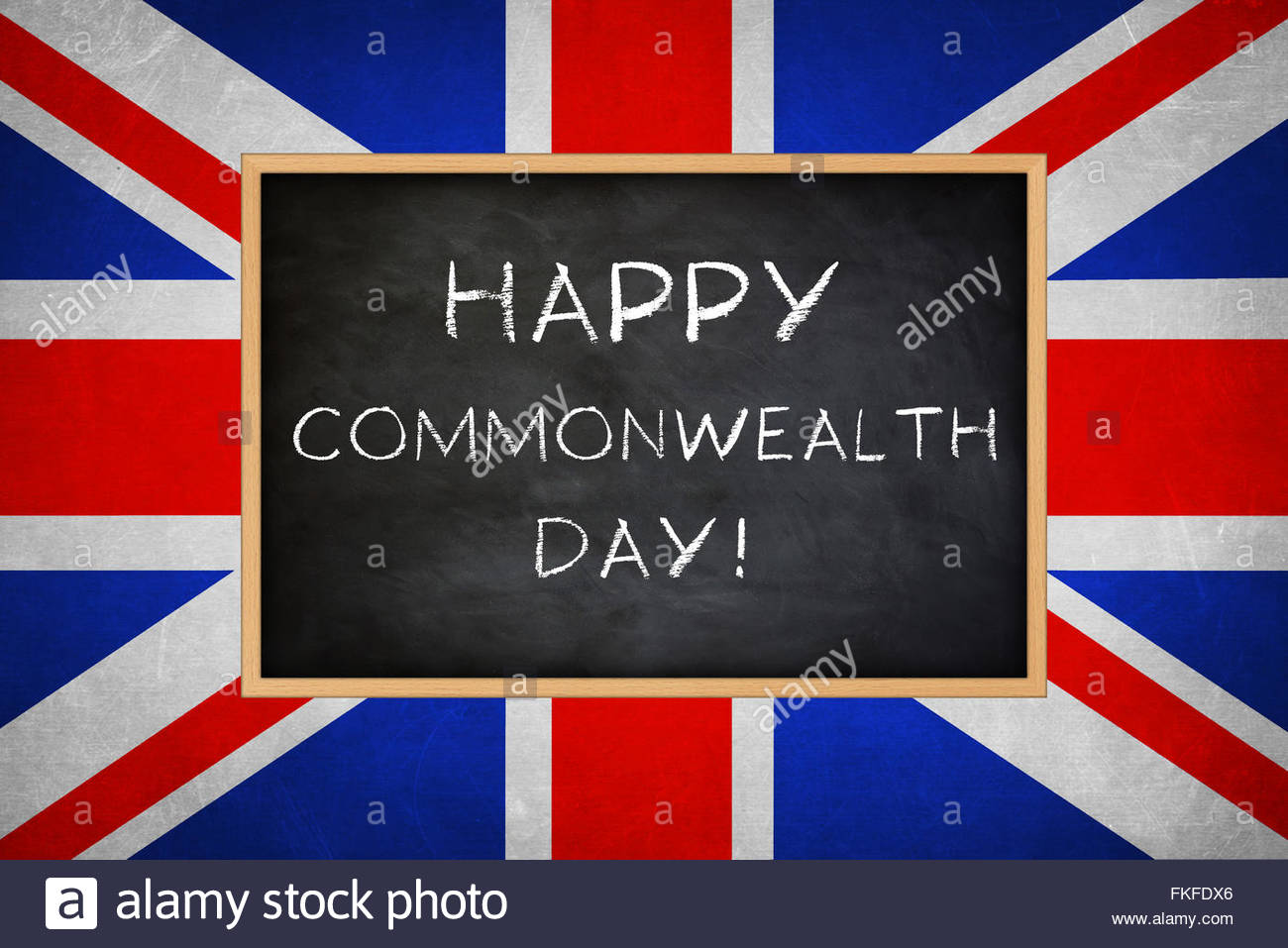 Happy Commonwealth Day - Stock Image