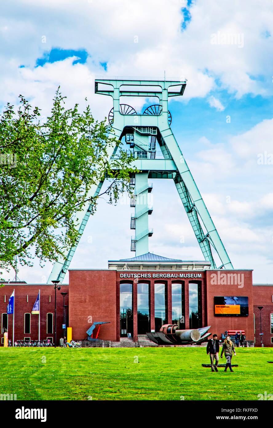 Deutsche Bergbau-Museum Bochum (DBM);  German Mining Museum in Bochum, greatest mining museum of the world - Stock Image