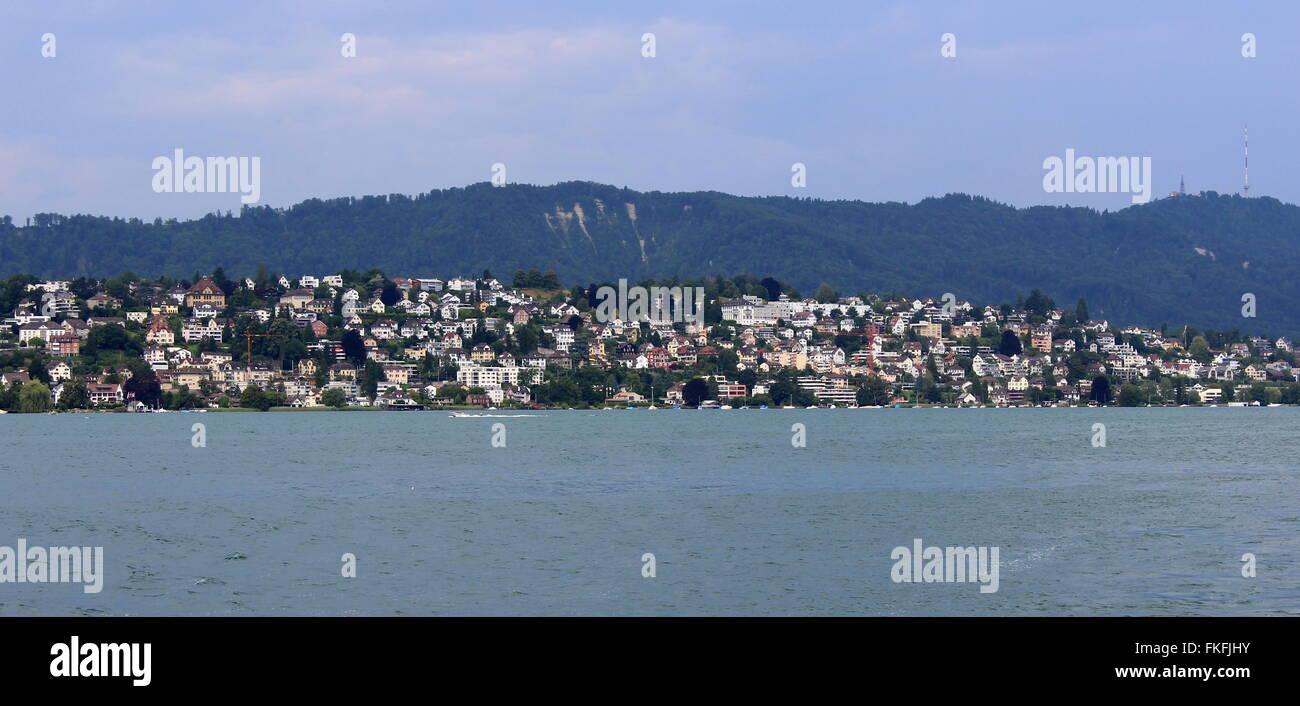 Zurich cityscape from Lake Zurich #1 , Switzerland - Stock Image