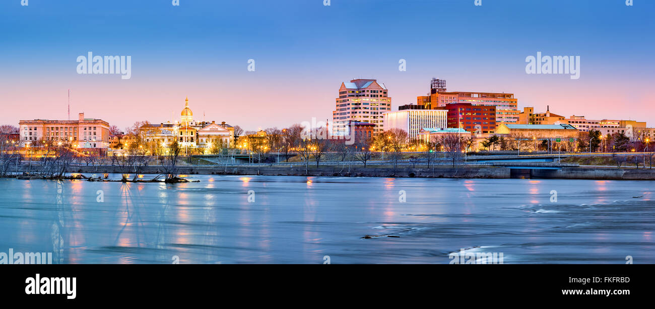 Trenton skyline panorama at dawn. Trenton is the capital of the US state of New Jersey. - Stock Image