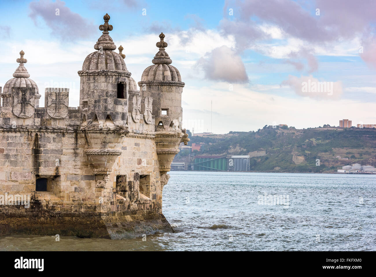 Turret of Belem Tower in Lisbon, Portugal. - Stock Image