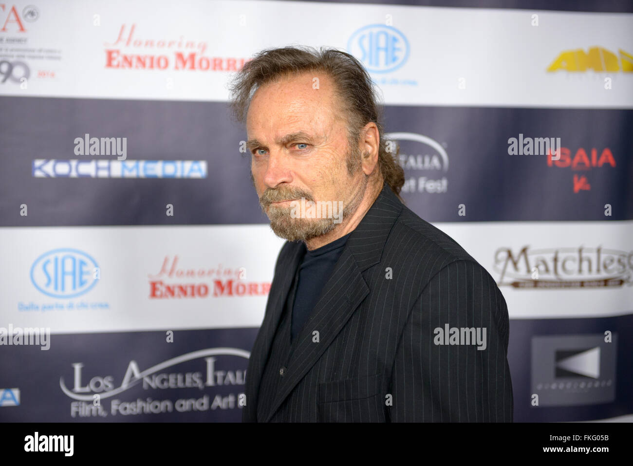 FEBRUARY 22, 2016: The actor Franco Nero at the Los Angeles Italian Film Festival. - Stock Image