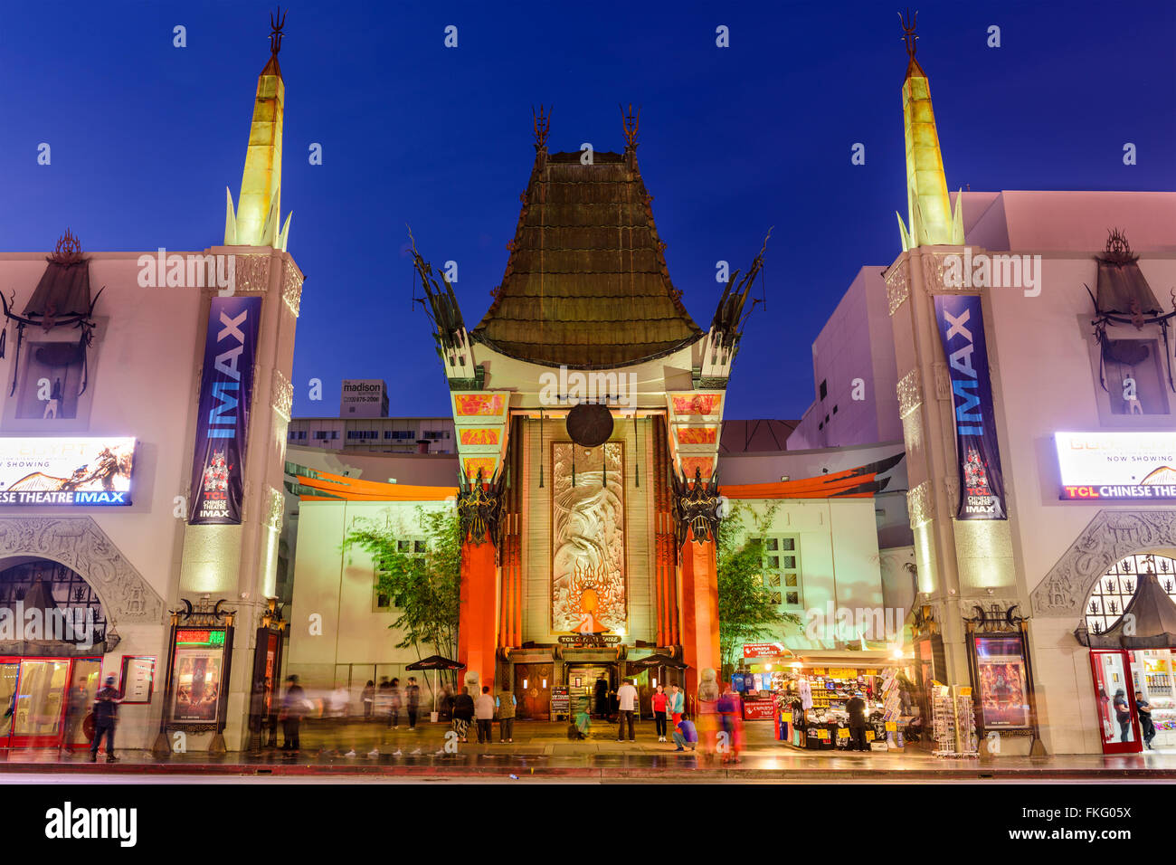 Grauman's Chinese Theater on Hollywood Boulevard in Hollywood, California, USA. - Stock Image
