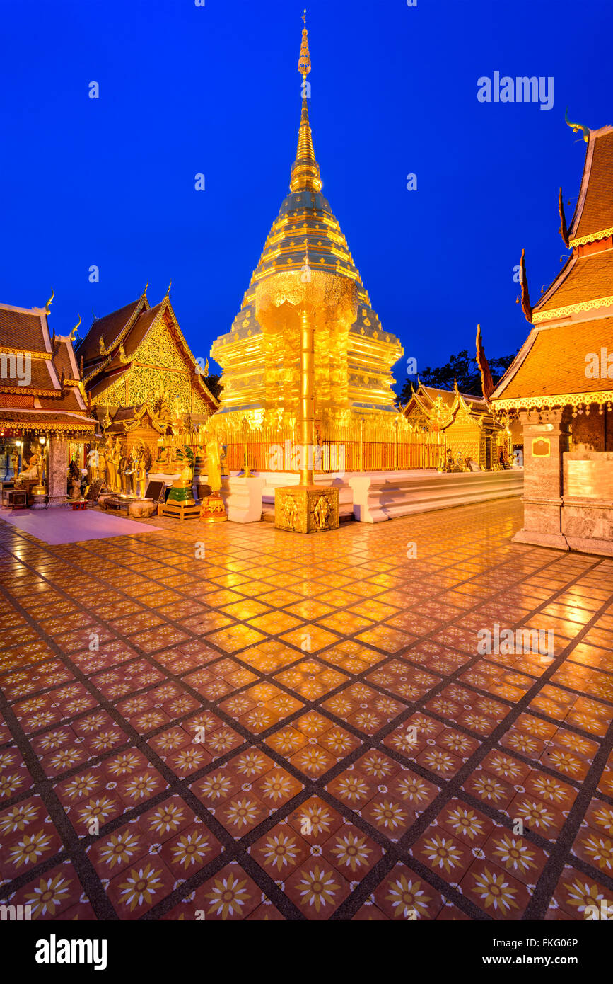 Wat Phra That Doi Suthep Temple of Chiang Mai, Thailand. - Stock Image
