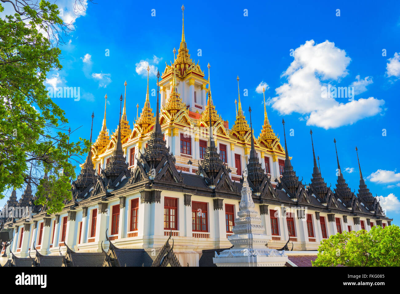 "Wat Ratchanatdaram ""Metal Temple"" in Bangkok, Thailand. Stock Photo"