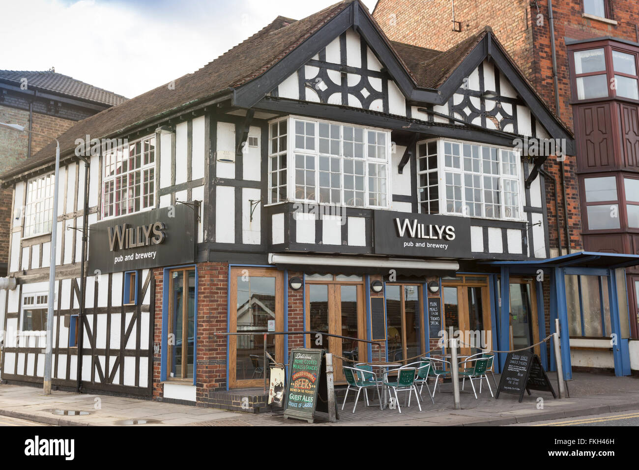 Willys Brewery and Pub Cleethorpes Lincolnshire - Stock Image