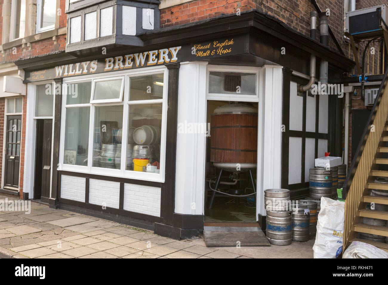 Willys Brewery Cleethorpes Lincolnshire - Stock Image