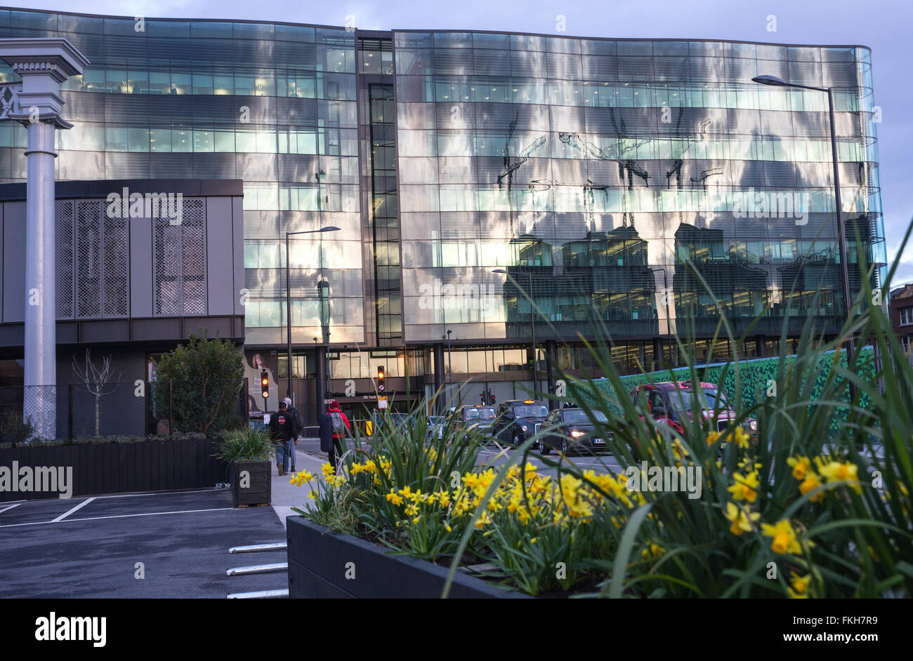Kings place building in Kings Cross where the Guardian and Observer newspapers are based - Stock Image