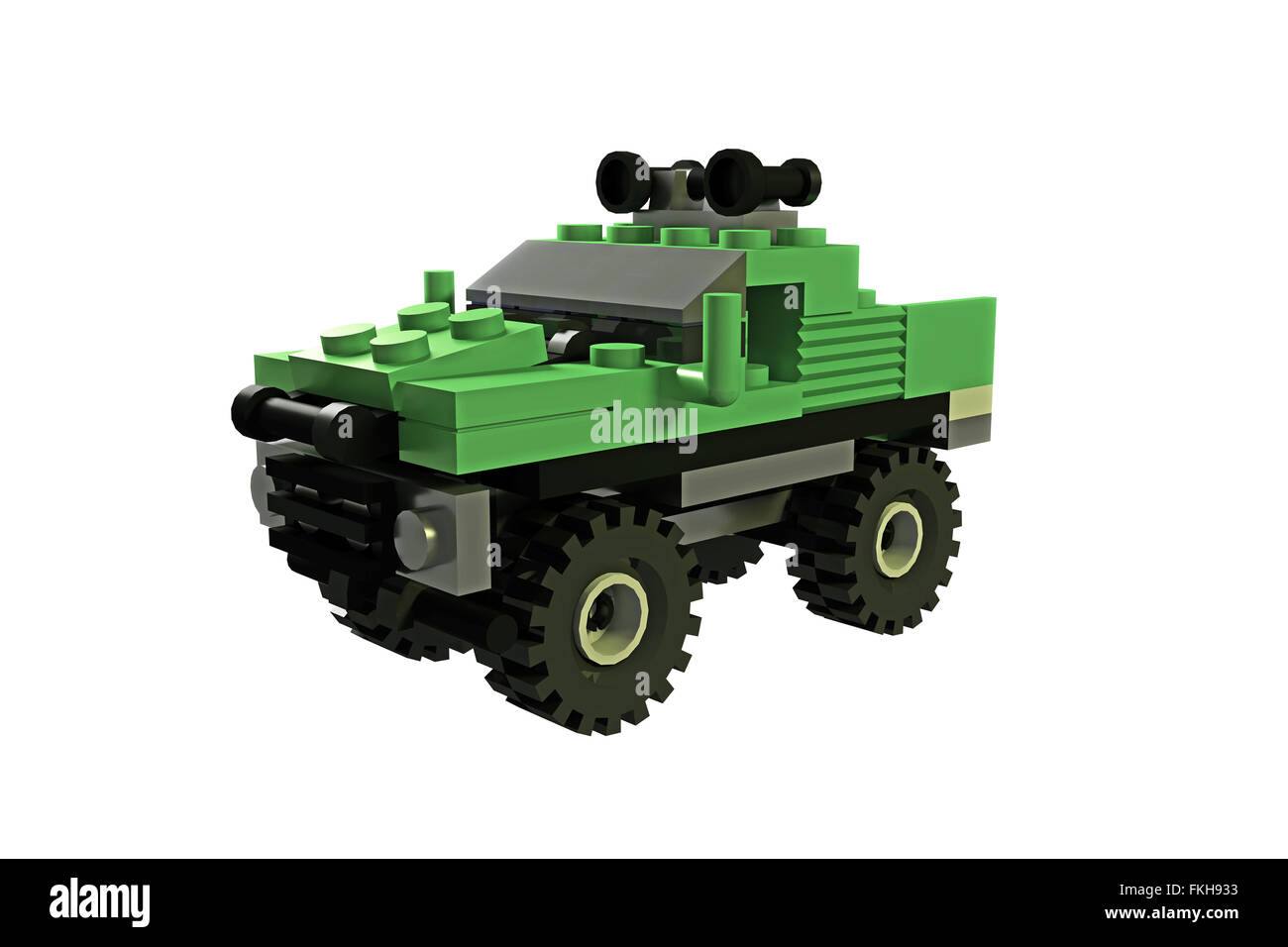 off road toy isolated on white background - Stock Image