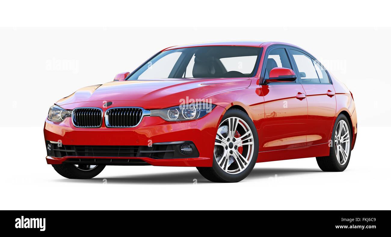 Red executive car - Stock Image